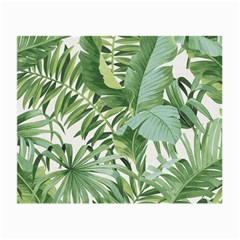Green Palm Leaf Wallpaper Alfresco Palm Leaf Wallpaper Small Glasses Cloth (2 Side)
