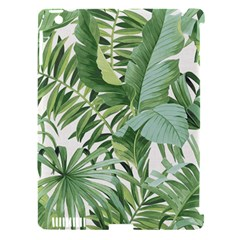 Green Palm Leaf Wallpaper Alfresco Palm Leaf Wallpaper Apple Ipad 3/4 Hardshell Case (compatible With Smart Cover) by AnjaniArt