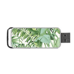Green Palm Leaf Wallpaper Alfresco Palm Leaf Wallpaper Portable Usb Flash (two Sides) by AnjaniArt