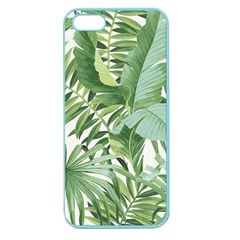 Green Palm Leaf Wallpaper Alfresco Palm Leaf Wallpaper Apple Seamless Iphone 5 Case (color) by AnjaniArt
