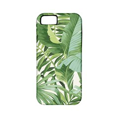 Green Palm Leaf Wallpaper Alfresco Palm Leaf Wallpaper Apple Iphone 5 Classic Hardshell Case (pc+silicone)