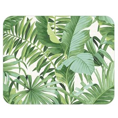 Green Palm Leaf Wallpaper Alfresco Palm Leaf Wallpaper Double Sided Flano Blanket (medium)  by AnjaniArt