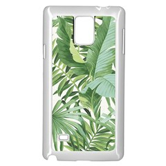 Green Palm Leaf Wallpaper Alfresco Palm Leaf Wallpaper Samsung Galaxy Note 4 Case (white) by AnjaniArt