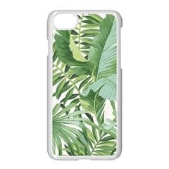 Green Palm Leaf Wallpaper Alfresco Palm Leaf Wallpaper Apple Iphone 8 Seamless Case (white) by AnjaniArt
