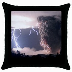 Lighting Flash Fire Wallpapers Throw Pillow Case (black) by AnjaniArt