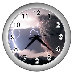 Lighting Flash Fire Wallpapers Wall Clock (silver) by AnjaniArt