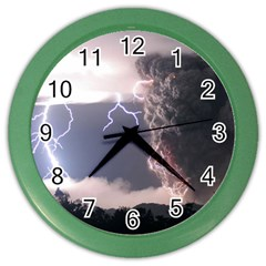 Lighting Flash Fire Wallpapers Color Wall Clock by AnjaniArt