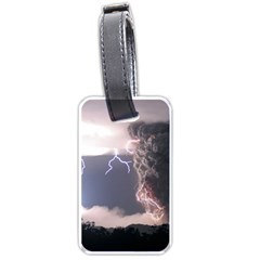 Lighting Flash Fire Wallpapers Luggage Tags (one Side)