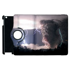 Lighting Flash Fire Wallpapers Apple Ipad 3/4 Flip 360 Case by AnjaniArt