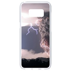 Lighting Flash Fire Wallpapers Samsung Galaxy S8 White Seamless Case by AnjaniArt
