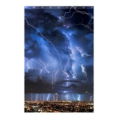 Lighting Flash Fire Wallpapers Night City Town Meteor Shower Curtain 48  X 72  (small)