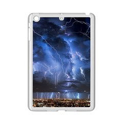 Lighting Flash Fire Wallpapers Night City Town Meteor Ipad Mini 2 Enamel Coated Cases