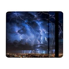 Lighting Flash Fire Wallpapers Night City Town Meteor Samsung Galaxy Tab Pro 8 4  Flip Case by AnjaniArt