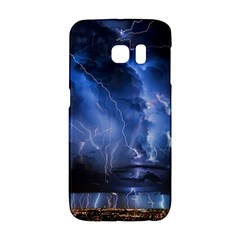 Lighting Flash Fire Wallpapers Night City Town Meteor Samsung Galaxy S6 Edge Hardshell Case by AnjaniArt