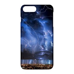 Lighting Flash Fire Wallpapers Night City Town Meteor Apple Iphone 8 Plus Hardshell Case by AnjaniArt