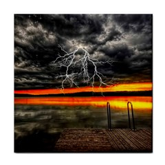 Lighting Strom Summer Star Sunset Sunrise Tile Coasters by AnjaniArt