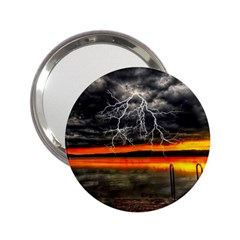 Lighting Strom Summer Star Sunset Sunrise 2 25  Handbag Mirrors by AnjaniArt