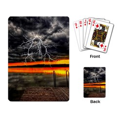 Lighting Strom Summer Star Sunset Sunrise Playing Cards Single Design by AnjaniArt