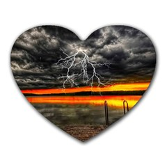 Lighting Strom Summer Star Sunset Sunrise Heart Mousepads by AnjaniArt