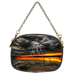 Lighting Strom Summer Star Sunset Sunrise Chain Purse (one Side) by AnjaniArt