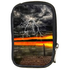 Lighting Strom Summer Star Sunset Sunrise Compact Camera Leather Case