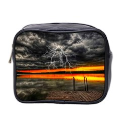 Lighting Strom Summer Star Sunset Sunrise Mini Toiletries Bag (two Sides) by AnjaniArt