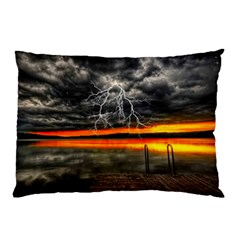 Lighting Strom Summer Star Sunset Sunrise Pillow Case (two Sides) by AnjaniArt