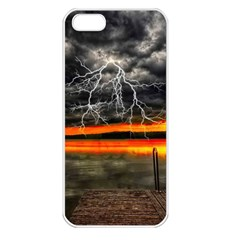 Lighting Strom Summer Star Sunset Sunrise Apple Iphone 5 Seamless Case (white) by AnjaniArt
