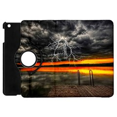 Lighting Strom Summer Star Sunset Sunrise Apple Ipad Mini Flip 360 Case by AnjaniArt