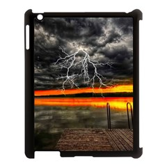 Lighting Strom Summer Star Sunset Sunrise Apple Ipad 3/4 Case (black) by AnjaniArt
