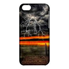 Lighting Strom Summer Star Sunset Sunrise Apple Iphone 5c Hardshell Case by AnjaniArt