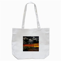 Lighting Strom Summer Star Sunset Sunrise Tote Bag (white) by AnjaniArt