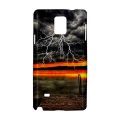 Lighting Strom Summer Star Sunset Sunrise Samsung Galaxy Note 4 Hardshell Case by AnjaniArt