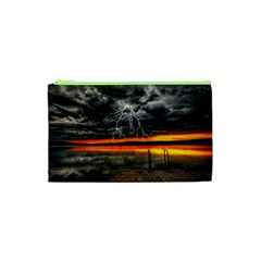 Lighting Strom Summer Star Sunset Sunrise Cosmetic Bag (xs) by AnjaniArt