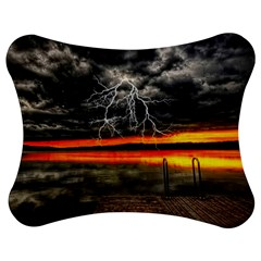 Lighting Strom Summer Star Sunset Sunrise Jigsaw Puzzle Photo Stand (bow) by AnjaniArt