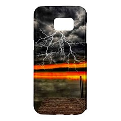 Lighting Strom Summer Star Sunset Sunrise Samsung Galaxy S7 Edge Hardshell Case by AnjaniArt