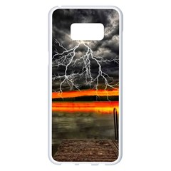 Lighting Strom Summer Star Sunset Sunrise Samsung Galaxy S8 Plus White Seamless Case by AnjaniArt