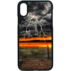 Lighting Strom Summer Star Sunset Sunrise Apple Iphone X Seamless Case (black) by AnjaniArt