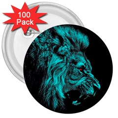 King Lion Wallpaper Jungle 3  Buttons (100 Pack)