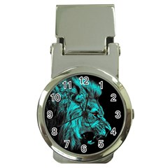 King Lion Wallpaper Jungle Money Clip Watches