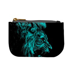 King Lion Wallpaper Jungle Mini Coin Purse by AnjaniArt