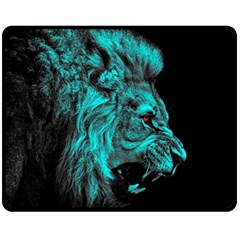 King Lion Wallpaper Jungle Fleece Blanket (medium)