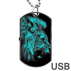 King Lion Wallpaper Jungle Dog Tag Usb Flash (two Sides)