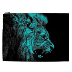 King Lion Wallpaper Jungle Cosmetic Bag (xxl) by AnjaniArt