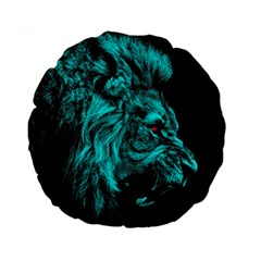 King Lion Wallpaper Jungle Standard 15  Premium Round Cushions by AnjaniArt