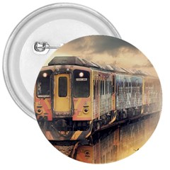 Manipulation Ghost Train Painting 3  Buttons by AnjaniArt