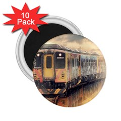 Manipulation Ghost Train Painting 2 25  Magnets (10 Pack)  by AnjaniArt