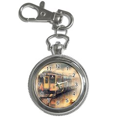 Manipulation Ghost Train Painting Key Chain Watches by AnjaniArt