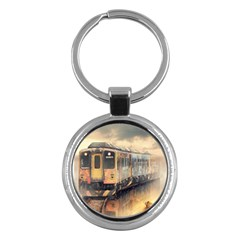 Manipulation Ghost Train Painting Key Chains (round)