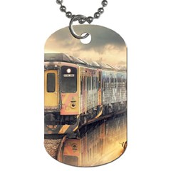 Manipulation Ghost Train Painting Dog Tag (one Side) by AnjaniArt